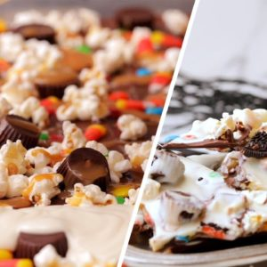 Halloween Candy Chocolate Bark in 15 Minutes or Less // Presented by BuzzFeed & GEICO