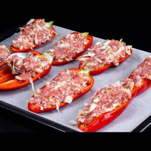 ONLY minced meat and red pepper! The DINNER for the ENTIRE FAMILY ready in 10 min