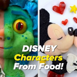 Disney Characters Made From Food!