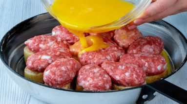 Nobody BELIEVES that I prepare this meat WITHOUT DOUGH! Directly in the pan