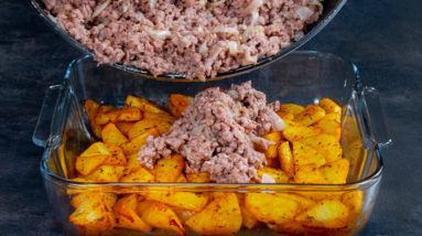 How to keep potatoes unbroken! The combination with minced meat is pure GOLD!